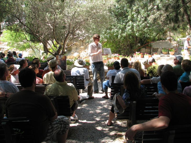 Messianic Worship at the Garden Tomb in Jerusalem Israel