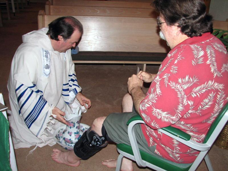 Footwashing of the Congregation during Passover Service